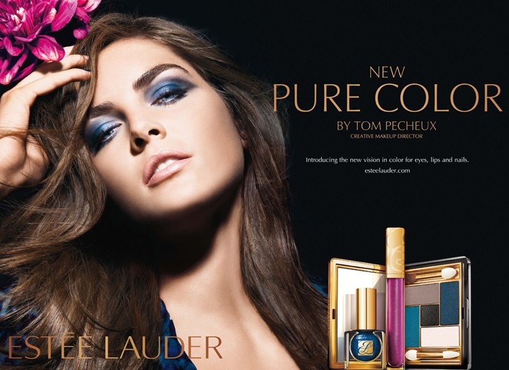 An ad visual for the Blue Dahlia collection.