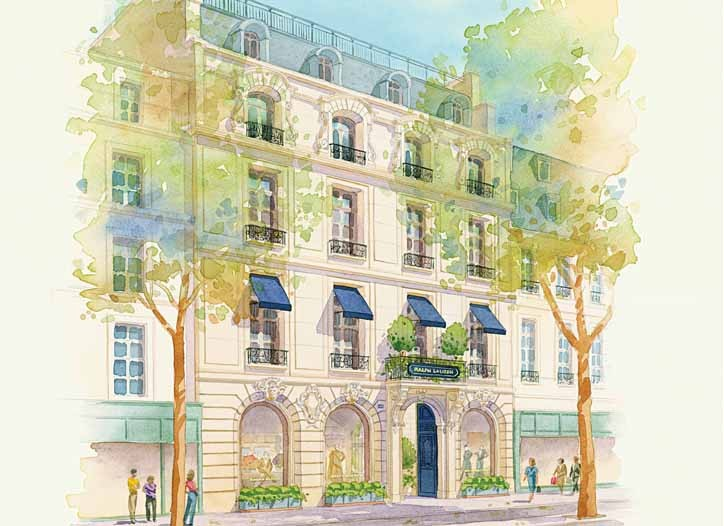 A rendering of the Saint-Germain store in Paris, slated to open in mid-April.