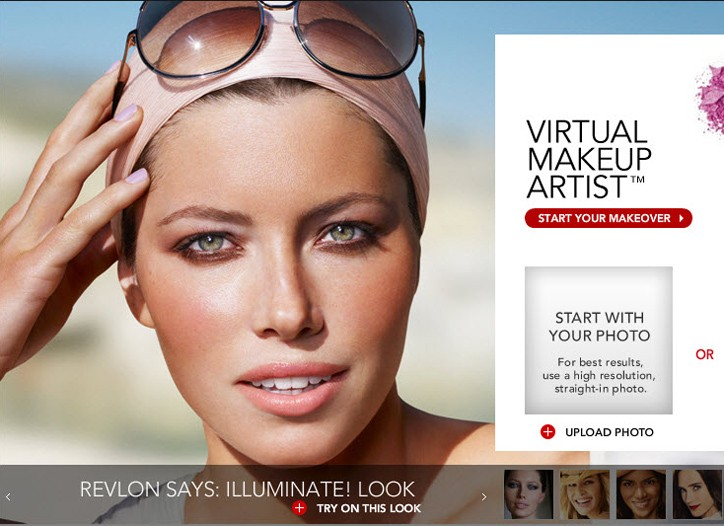 An image from Revlon's new Web site.