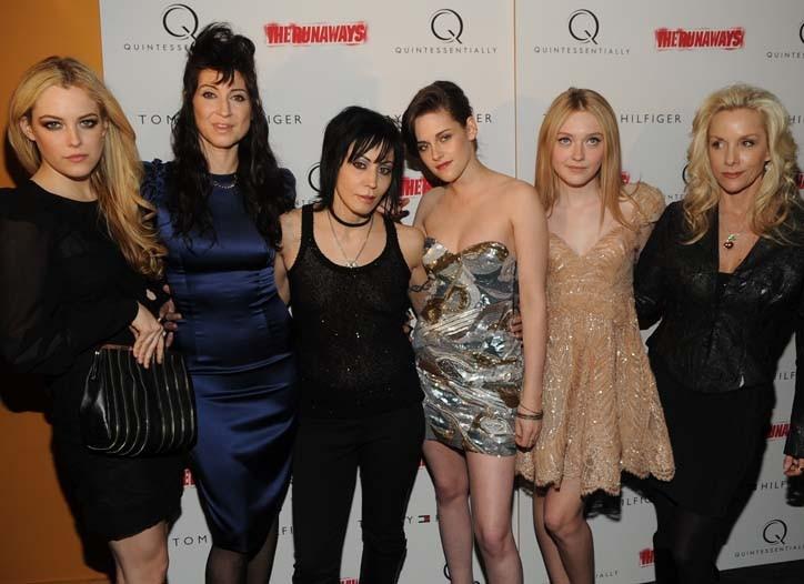 Riley Keough, Floria Sigismondi, Joan Jett, Kristen Stewart, Dakota Fanning and Cherie Currie
