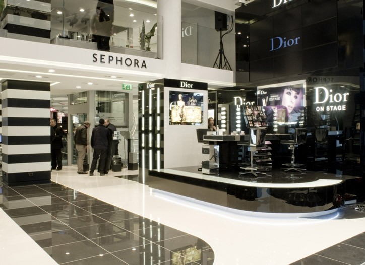 Dior on stage in the new Sephora.