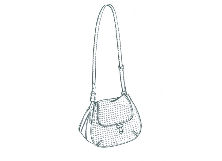 A sketch of a Steven Alan handbag.