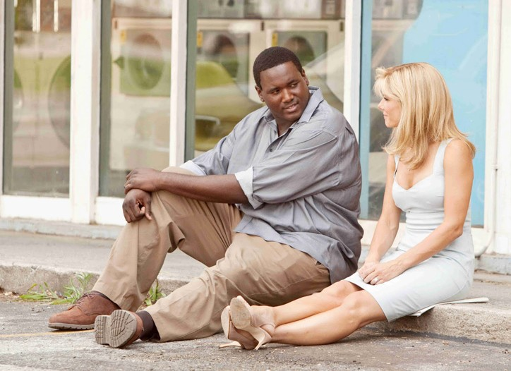 """Quinton Aaron and Sandra Bullock in """"The Blind Side."""""""