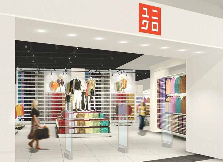 A view of Uniqlo's new store in Moscow.