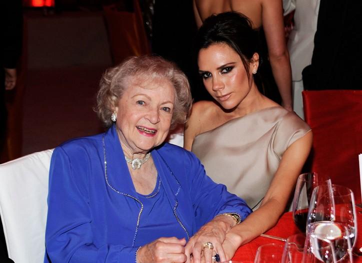Betty White and Victoria Beckham