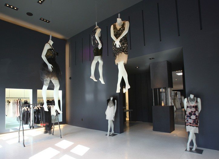 A view inside the new Vera Wang store.