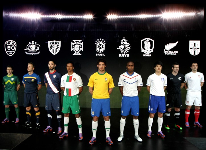World Cup players on nine teams will wear Nike's recycled polyester soccer jerseys in South Africa.
