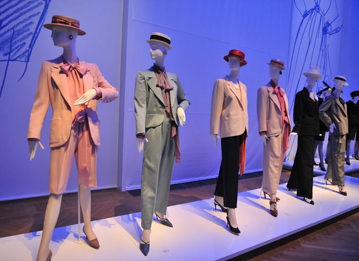 "Looks from the ""Yves Saint Laurent"" exhibit."