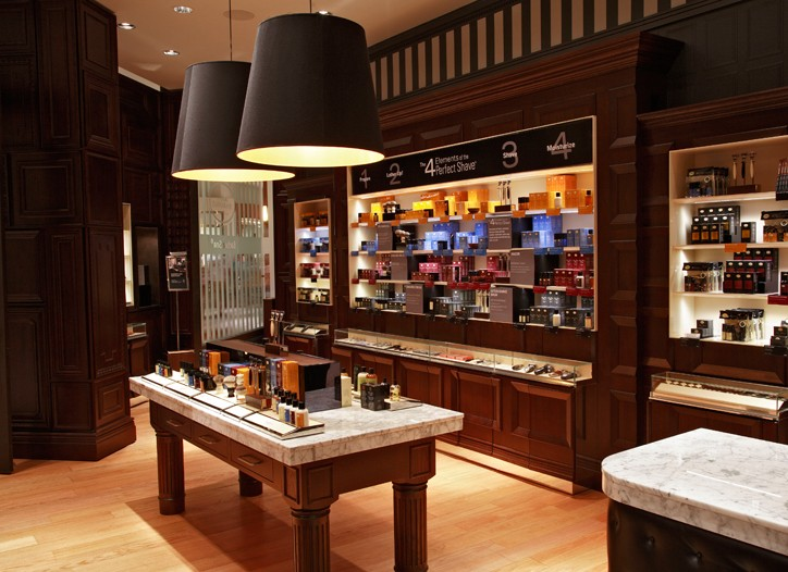 """The Art of Shaving's shop and """"Barber Spa"""" at Aventura Mall in Miami."""