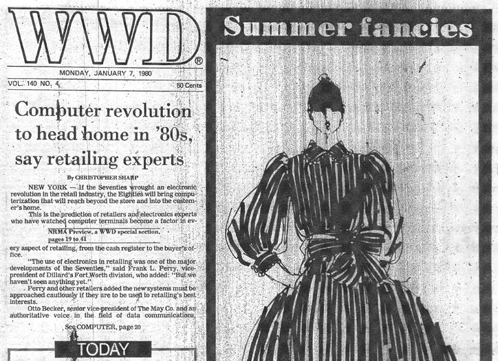 WWD, January 7, 1980, pg.1.