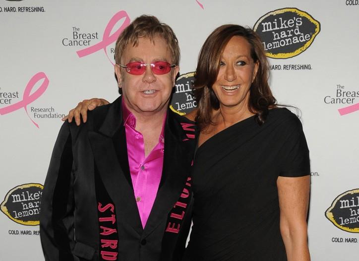 Sir Elton John and Donna Karan