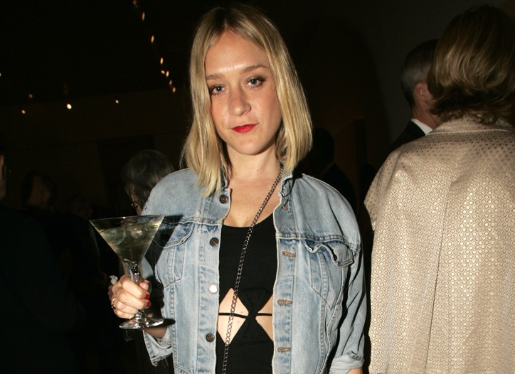 Chloë Sevigny in an Opening Ceremony dress and Levi's jacket.
