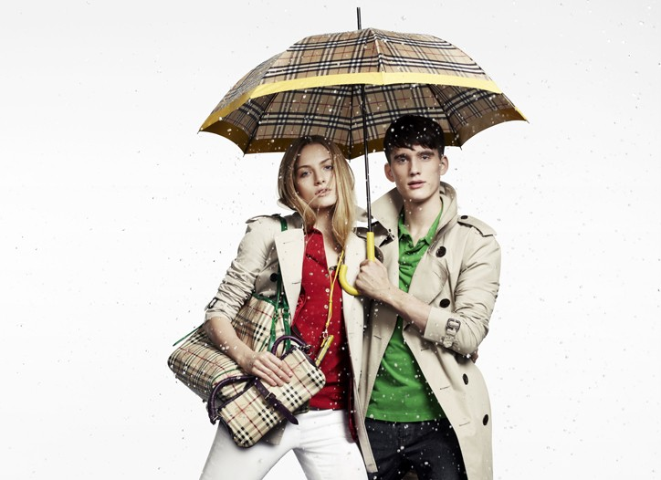 An ad for Burberry's new April Showers collection.
