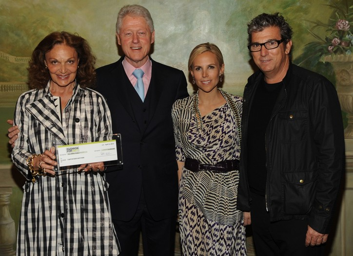 Diane von Furstenberg, Bill Clinton, Tory Burch and Andrew Rosen.
