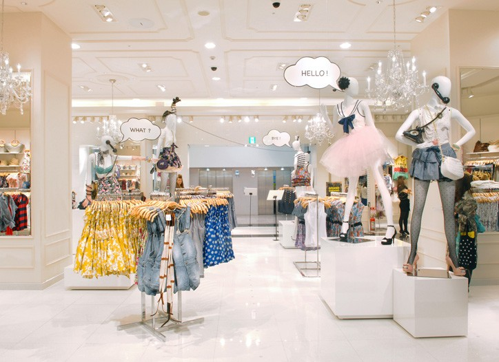 Inside the new Forever 21 store in Tokyo.
