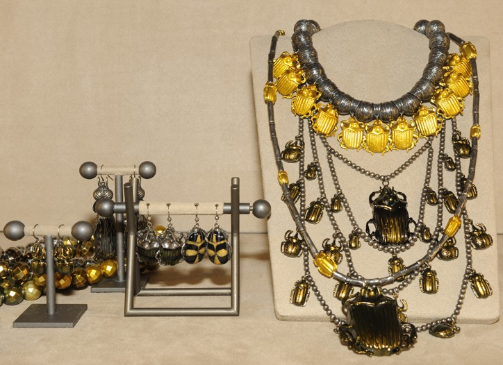 Jewelry from Bottega Veneta.