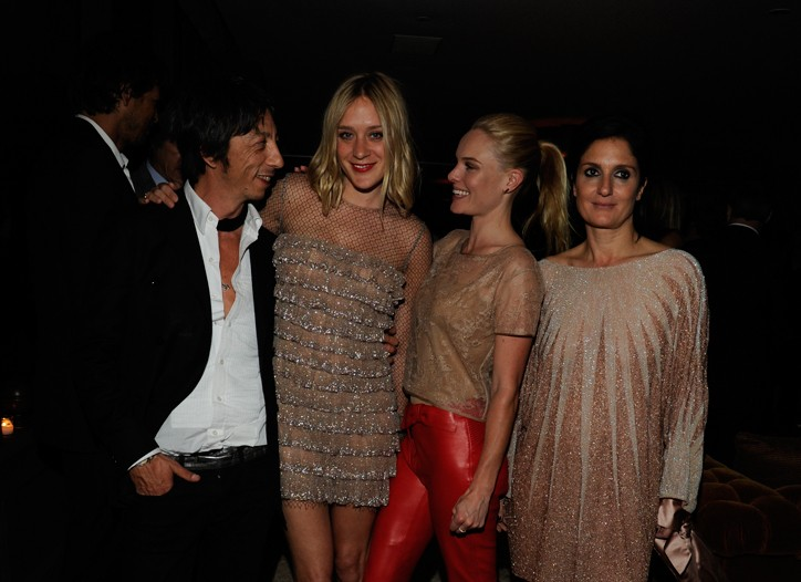 Chloe Sevigny and Kate Bosworth, both in Valentino with Pier Paolo Piccioli and Maria Grazia Chiuri.