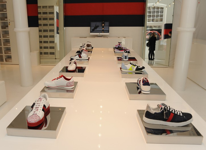 Gucci's Icon limited edition sneakers on display.