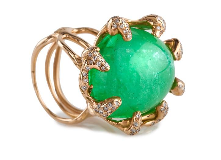 A piece of jewelry by Lucifer Vir Honestus.