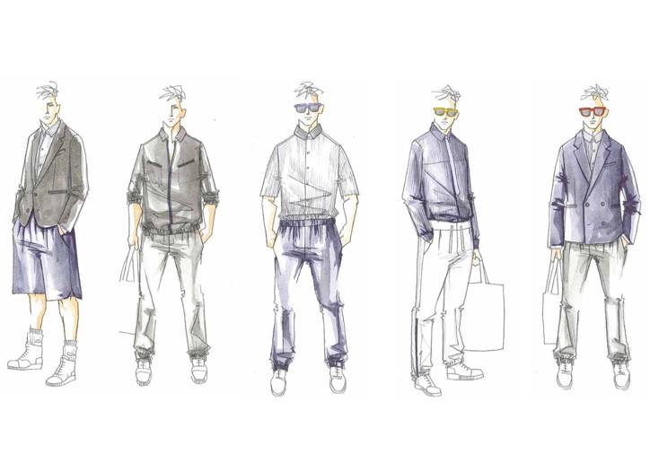 Sketches of the Pierre-Henri Mattout line.
