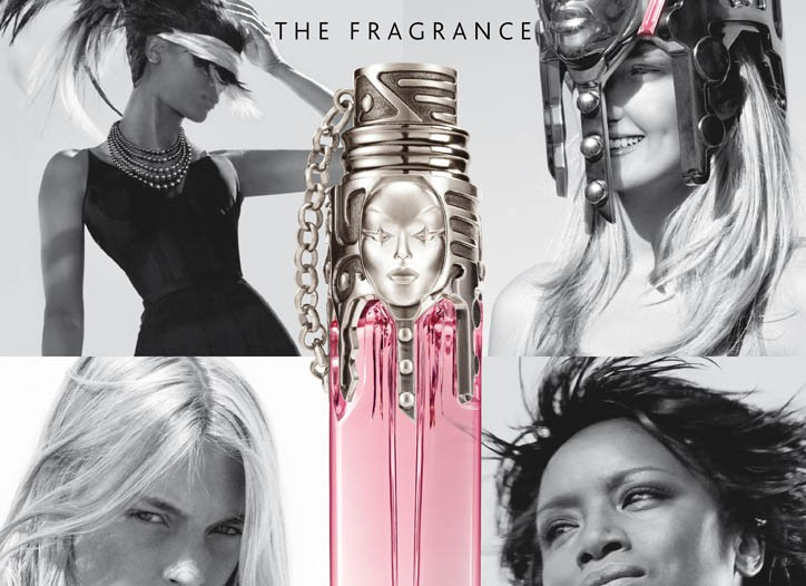 Ad for Thierry Mugler's fragrance Womanity.