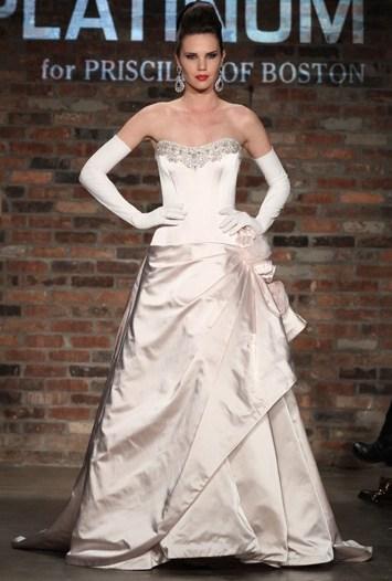Platinum for Priscilla of Boston Bridal Spring 2011