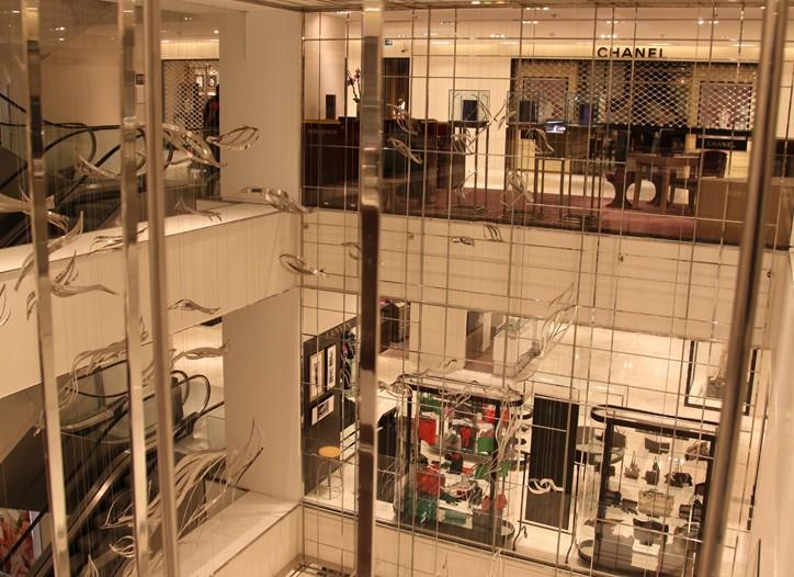 The atrium at Printemps Paris.