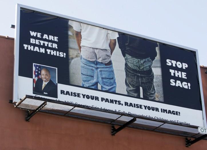 New York State Sen. Eric Adams has erected six billboards in Brooklyn.
