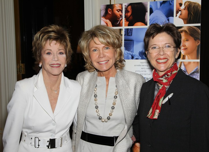Jane Fonda, Christine Schwarzman and Annette Bening