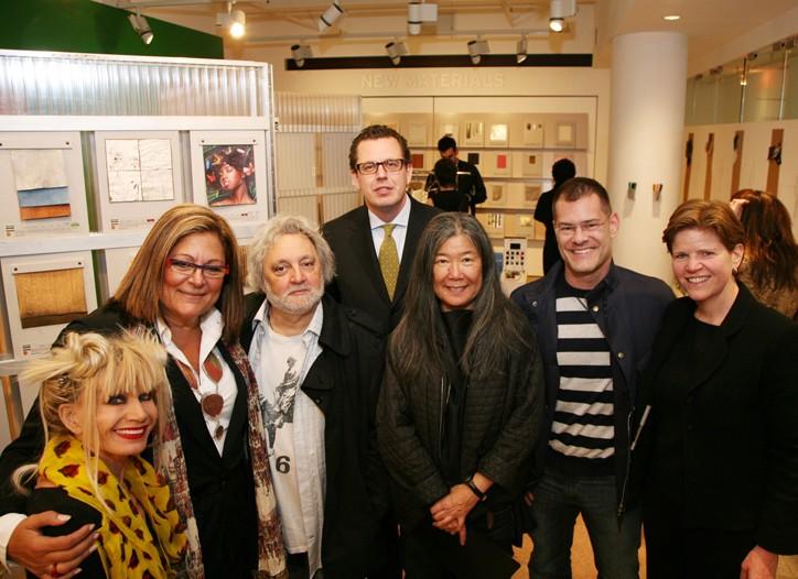 Betsey Johnson, Fern Mallis, Carlos Falchi, Material ConneXion president Michele Caniato, Yeohlee Teng, John Bartlett and Fashion Center president Barbara Randall.