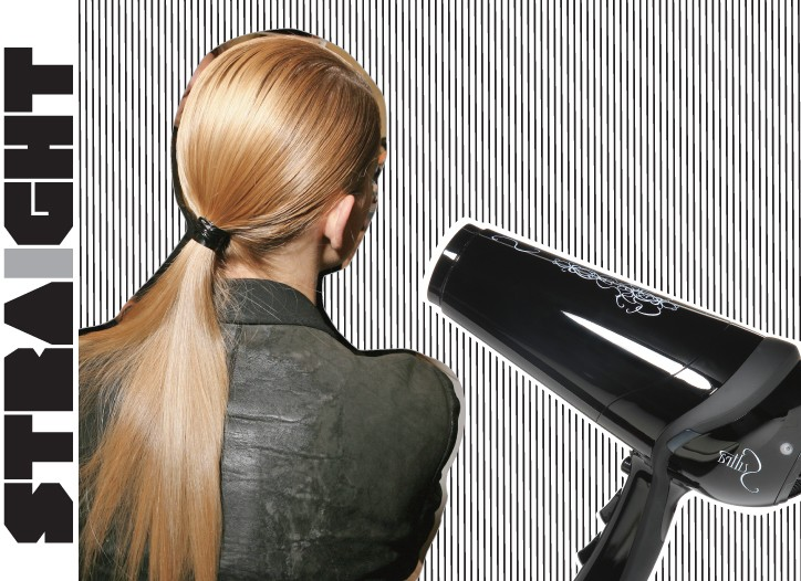 Pin-straight styles are perfectly in sync with the new minimalism that dominated runways.