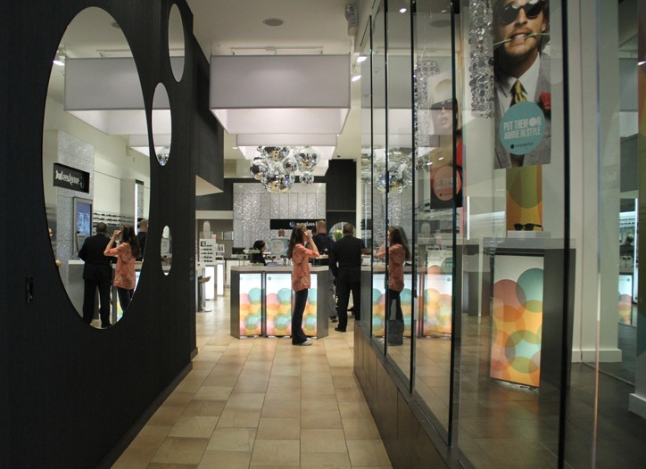The Sunglass Hut flagship on Fifth Avenue in New York.
