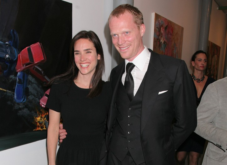 Jennifer Connelly in Isabel Marant and Paul Bettany in Tom Ford.