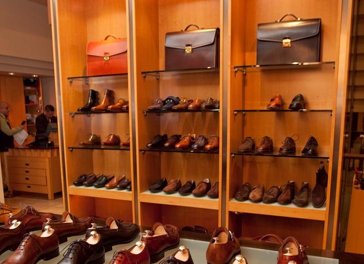 The store's shoe assortment.