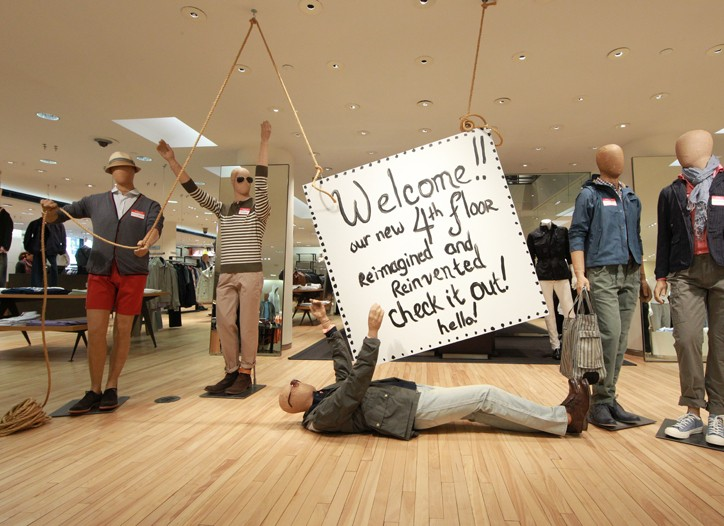 Barneys' re-designed men's floor.