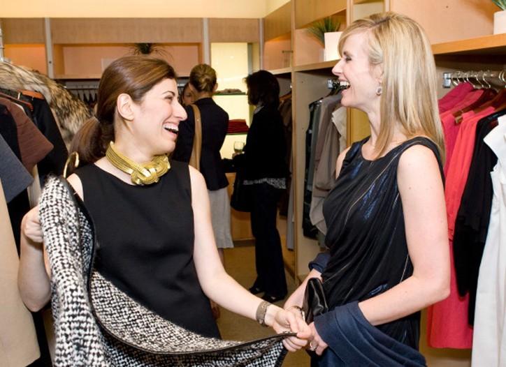 Behnaz Sarafpour with Jennifer Siebel Newsom.