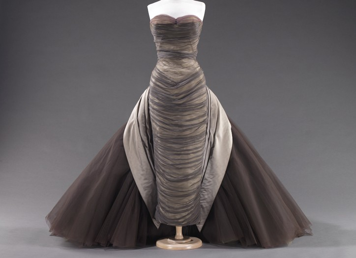 Dress by Charles James, 1955.