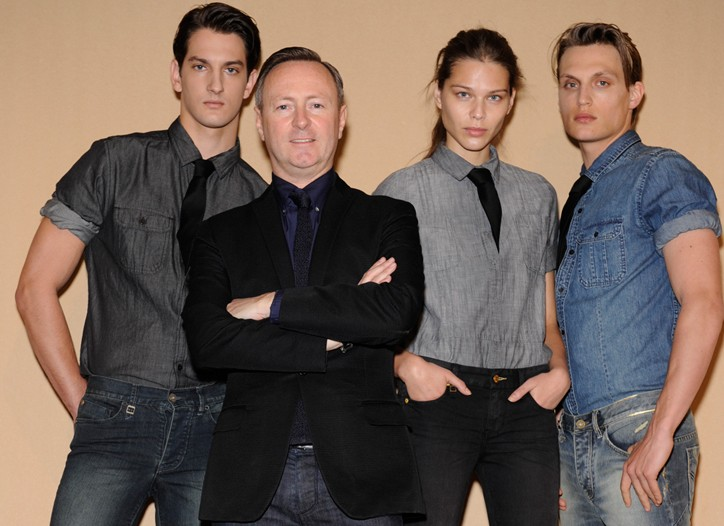 Calvin Klein Jeans' Kevin Carrigan with models in the new X Jeans.