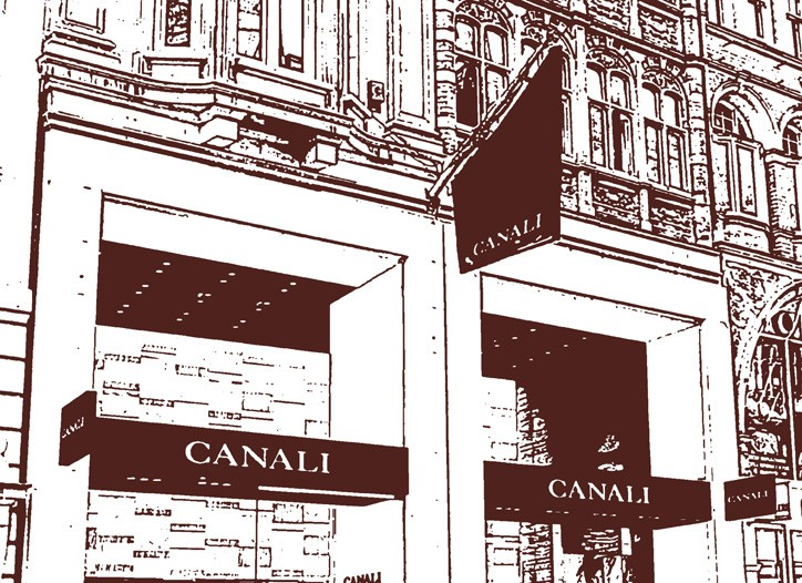 A rendering of the new Canali store.