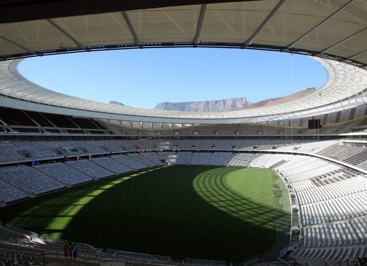 A general view of the Greenpoint stadium in Cape Town.