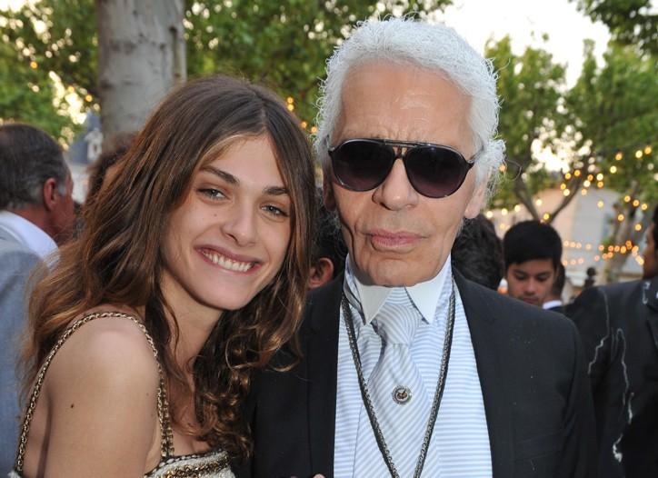 Elisa Sednaoui and Karl Lagerfeld