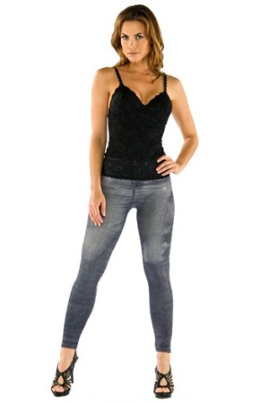 Washed denim-inspired leggings by Cosabella Jeans.