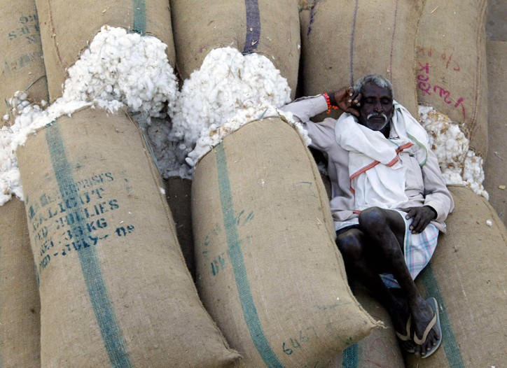 World consumption of cotton is outpacing production.