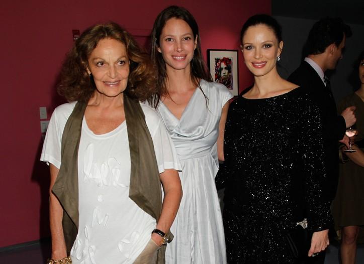 Diane Von Furstenber, Christy Turlington Burns and Georgina Chapman.