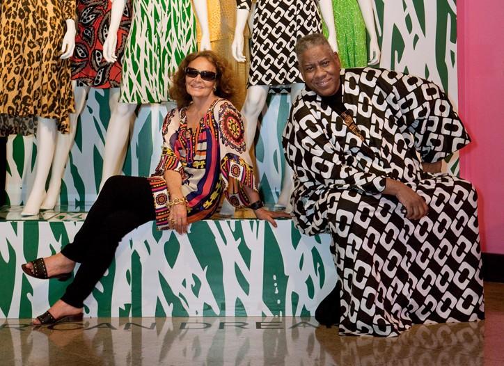 Diane von Furstenberg and Andre Leon Talley