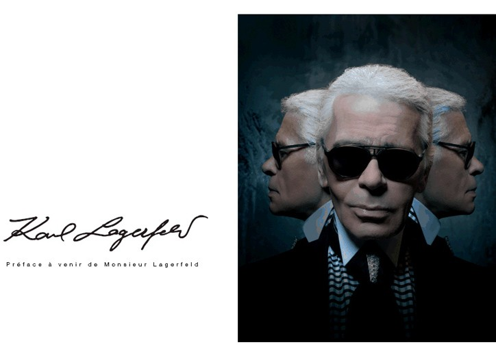 Karl Lagerfeld in the 3 Suisses catalogue.