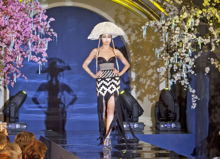 Jean Paul Gaultier's summer couture show in Moscow