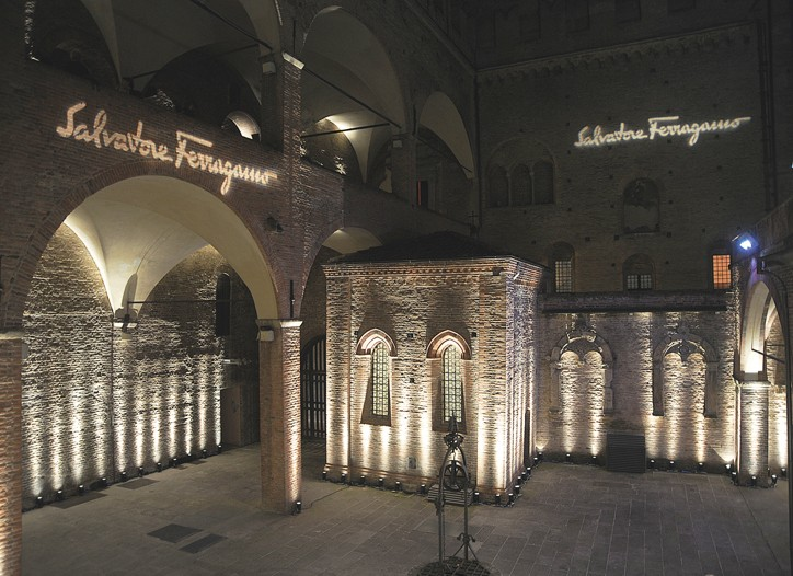 The launch of Ferragamo's new women's scent, Attimo, at the Palazzo Re Enzo.