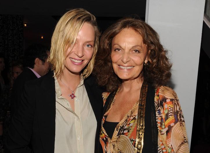 Uma Thurman and Diane von Furstenberg