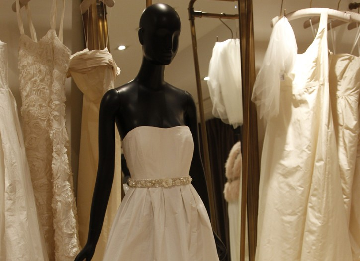 A view of the J. Crew bridal shop.